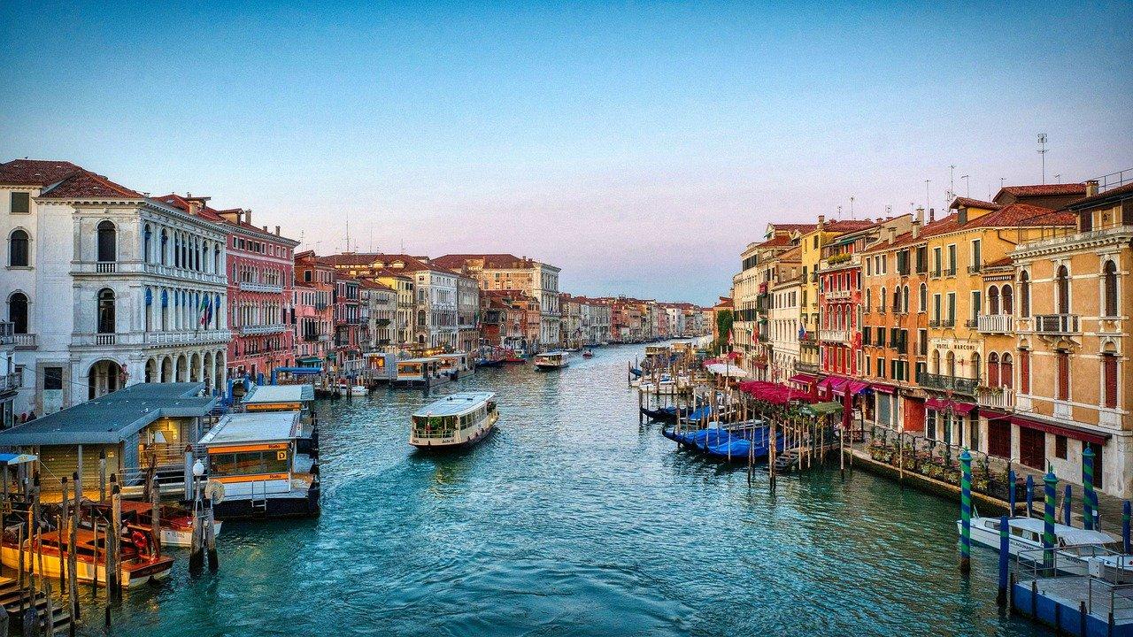 venice, canal, boats